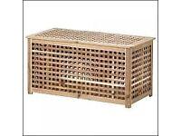 Ikea HOL Acaciac Storage Table x 2
