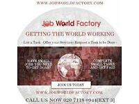 GET A JOB BY THE END OF THE WEEL VISITJOBWORLDFACTORY!
