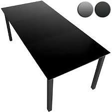 Miadomodo Aluminium Dark Grey Black Garden Dining Table Flat Pack 147x87cm