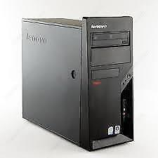 LENOVO FACTORY REFURB PC  LENOVO M58 ,INTEL 3GHZ, 4GB, 250GB, DVDRW, 8USB