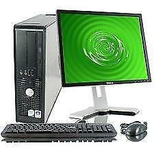 "BACK TO SCHOOL DELL PC CORE2 DUO 2.93GHz,4GB,80GB,DVD,8USB,MONITOR 17"",KEYBOARD-MOUSE"