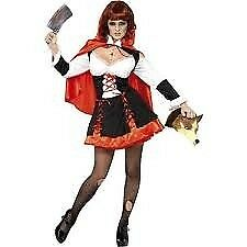 GOTHIC RED RIDING HOOD FANCY DRESS OUTFIT SIZE 12/14 GREAT FOR HALLOWEEN PARTY