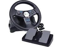 PS2 Steering Wheel with pedal
