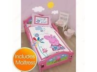 Peppa pig toddler bed and mattress in brilliant condition used a few times
