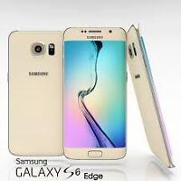 Samsung S6 Edge - GOLD - 32 GB - UNLOCKED with FREE Case