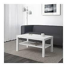 IKEA White coffee table & bookcase