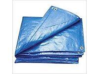 Waterproof UV Protected Blue and Beige Extra Heavy Duty Tarpaulin 350gsm