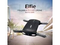 JJRC H37 Elfie foldable pocket selfie drone quadcopter altitude hold, FPV camera with carrycase