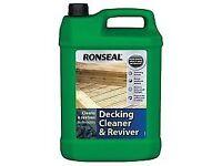 8 x Ronseal Decking Cleaner & Reviver 5L