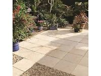 Bradstone Cream Paving Slabs 450x450
