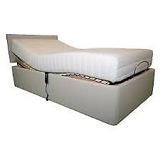 Electric fully adjustable bed with memory foam mattress