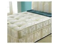 EXPRESS DELIVERY ** DOUBLE DIVAN BED WITH FULL CROWN ORTHOPAEDIC MATTRESS - SINGLE/KING AVAILABLE