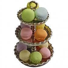 Dollhouse 3 tier dessert tray with 14 macaroons