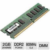 memoire 2gb DDR2 memory pour ordinateur computer