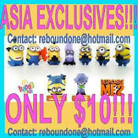 McDonalds Despicable Me 2 ASIA EXCLUSIVES Minion Happy Meal Toys