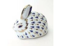 Royal Crown Derby Rabbit Paperweight