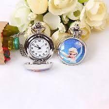 Disney Frozen Anna, Elsa & Olaf Kids' Watch on silver chain Charismas present