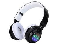 led flash light headphones bluetooth wireless night glowing flash