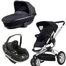 Quinny Buzz 3 Stroller with bassinet+ car seat ..3in 1.......