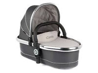 NEW - iCandy PEACH BLOSSOM TWIN CARRY COT - TRUFFLE 2 - CHROME CHASSIS