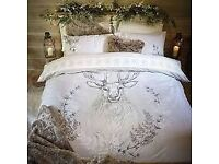 Stag Head double duvet set Used once Dunelm