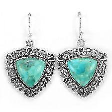 Vintage Sterling Turquoise Earrings