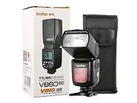 Godox Ving 860 MkII Flash + Canon T1 Radio Trigger or install firmware for NIKON + SONY
