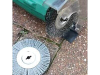 ELECTRIC WEED SWEEPER (DARK GREEN) WITH 2 NEW ADDITIONAL BRUSHES