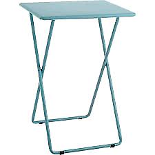 Habitat Airo Metal Folding garden or dinning room Table - Sea Blue