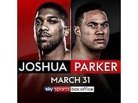 *Less than face value* 2x Pair of Joshua v Parker Tickets