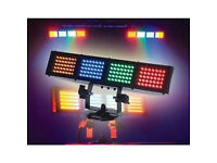 Two nearly new, American Dj, Colour burst, LED Colour light bars
