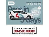 intensive driving course with driving test