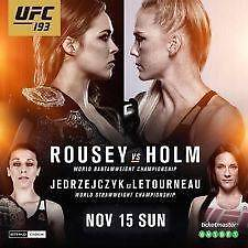 UFC-193-ROUSEY-vs-HOLM - FLOOR SEATS North Plympton West Torrens Area Preview