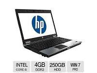 PROFESSIONALLY REFURBISHED HP ELITEBOOK INTEL i5 4GB RAM 250GB HDD WEBCAM MS OFFICE 12 MTH WARRANTY