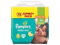 Pampers Nappies Size 5
