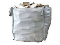 Bulk bag of logs seasoned firewood free local delivery