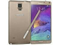 Samsung Galaxy Note 4 Gold (Unlocked) in good condition
