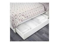Ikea BRUSALI bed frame incl storage drawers and slatted bed base!
