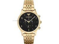Armani AR1893 Mens Beta Gold Plated Link bracelet watch RRP £349 Now Only £110