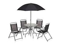 BRAND NEW 4 SEAT PATIO SET WITH PARASOL