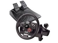 Playstation and pc steering wheel.