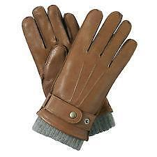 Mens Tan Leather Gloves Ebay