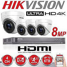 cctv camera 8mp 4 x hikvision system kit ahd hd