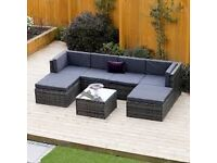 WANTED-Cash waiting-Rattan sofa-Has to be grey or dark cushions,etc-will collect