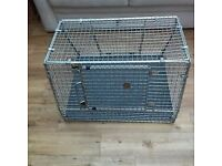 Dog Cage wire mesh,foldable, car, caravan etc appros 3ft x 2ft black