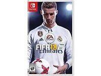 FIFA 18 Nintendo switch game
