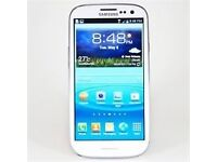 SAMSUNG GALAXY S3 16GB IN MARBLE WHITE UNLOCKED TO ALL NETWORKS ++++++