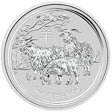 piece en argent Chevre/silver bullion Goat 2015 5 oz/ounce/once