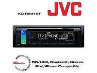 JVC KDR881BT BLUETOOTH CAR STEREO HEAD UNIT - SINGLE DIN