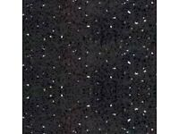 BLACK SPARKLE WETWALL , SHOWER WALL , CEILING PANELS FOR BATHROOM AND KITCHEN ETC